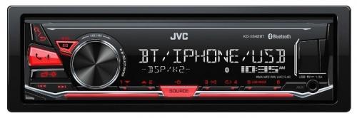 Автомагнитола JVC KD-X342BT USB MP3 FM RDS 1DIN 4x50Вт черный автомагнитола kenwood kmm 103ry usb mp3 fm rds 1din 4х50вт черный