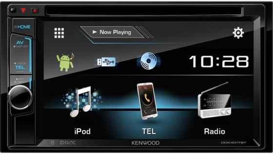 Автомагнитола Kenwood DDX-4017BTR 6.2 USB MP3 DVD CD FM 2DIN 4x40Вт черный fm модулятор guarding the dragon 2127 mp3 cd dvd