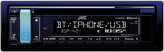 Автомагнитола JVC KD-R889BT USB MP3 CD FM 1DIN 4x50Вт черный автомагнитола kenwood kdc 210ui usb mp3 cd fm 1din 4х50вт черный