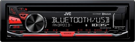 Автомагнитола JVC KD-R784BT USB MP3 CD FM 1DIN 4x50Вт черный автомагнитола jvc kd r477 kd r477