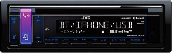 Автомагнитола JVC KD-R881BT USB MP3 CD FM RDS 1DIN 4x50Вт черный lenovo ideapad 110s 14ibr [80t6009frk] black 14 hd cel n3060 4gb 500gb linux