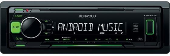 Автомагнитола Kenwood KMM-103GY USB MP3 FM 1DIN 4х50Вт черный автомагнитола usb kenwood kmm 103gy