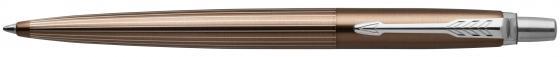 Шариковая ручка автоматическая Parker Jotter Premium K176 Carlisle Brown Pinstripe CT синий M 1953201 недорого