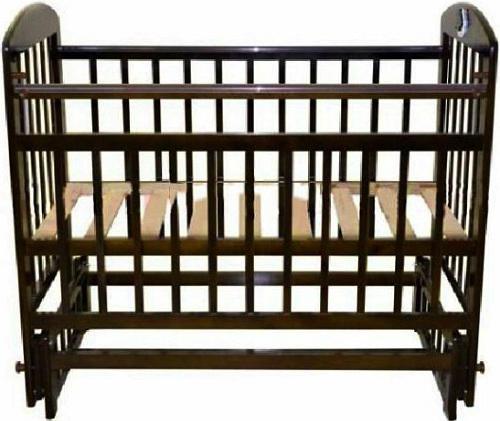 Кроватка с маятником Briciola 9 (без ящика/темная)