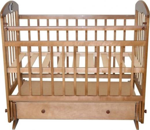 Кроватка с маятником Briciola 8 (с ящиком/светлая)