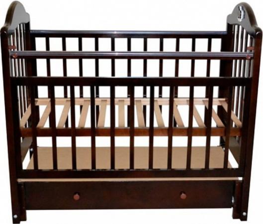 Кроватка с маятником Briciola 10 (с ящиком/темная) обычная кроватка уренская мебельная фабрика мишутка 14 с ящиком темная