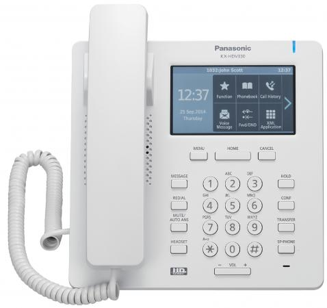 Телефон IP Panasonic KX-HDV330RU белый телефон