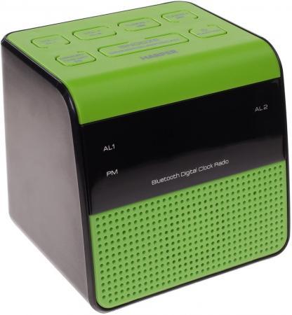 Радиобудильник Harper HRCB-7768 зелёный чёрный радиобудильник philips aj3123 12 чёрный белый