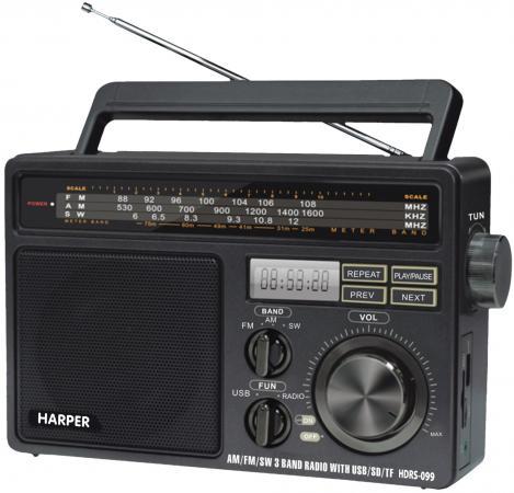 Радиоприемник Harper HDRS-099 чёрный цена в Москве и Питере