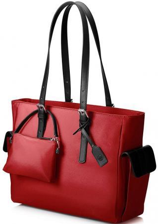 Сумка для ноутбука 14 HP Ladies Slm кожа красный T7B36AA сумка для ноутбука hp 14 0 ladies slm black tote t7b35aa