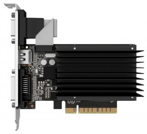 Видеокарта 2048Mb Palit GeForce GT710 PCI-E DVI HDMI VGA HDCP PA-GT710-2GD3H Retail NEAT7100HD46-2080H все цены