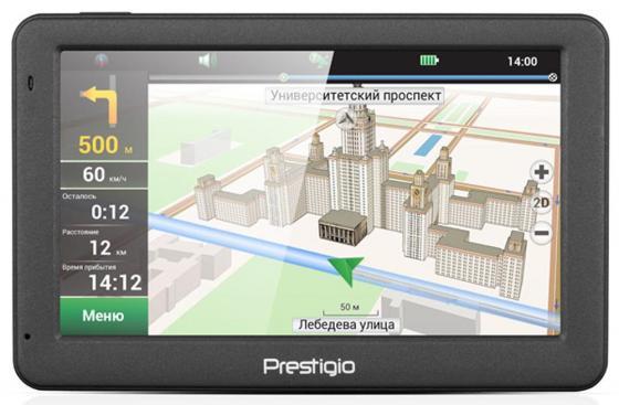 Навигатор Prestigio GeoVision 5059 Progorod 5 480x272 4GB 128MB microSD microSDHC серый new 5 inch lcd display touch screen digitizer assembly for prestigio geovision 5250 free shipping