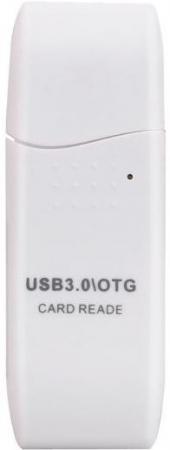 Картридер внешний ORIENT CR-018W W Mini SDXC/SD3.0/SDHC/microSD/T-Flash USB 3.0 белый картридер orient cr 011g