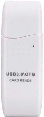 Картридер внешний ORIENT CR-017W W Mini SDXC/SD3.0/SDHC/microSD/T-Flash USB 3.0 белый картридер orient cr 011g