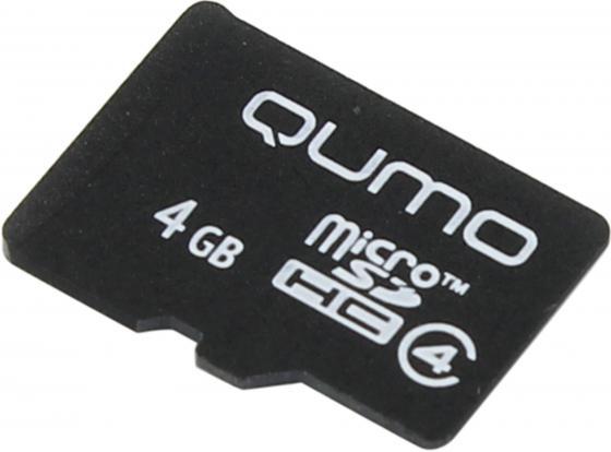 Карта памяти Micro SDHC 4Gb class 4 QUMO QM4GMICSDHC4NA карта памяти micro sdhc 4gb class 4 qumo qm4gmicsdhc4 sd adapter