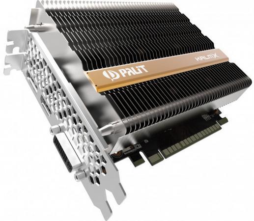 Видеокарта 4096Mb Palit GeForce GTX1050 Ti KalmX PCI-E 128bit GDDR5 DVI HDMI DP HDCP NE5105T018G1-1070H Retail видеокарта palit geforce gtx1050 ti dual 4g ne5105t018g1 4096mb 1290mhz nvidia gtx1050 ti gddr5 7000mhz 128 bit pci e dvi dp hdmi