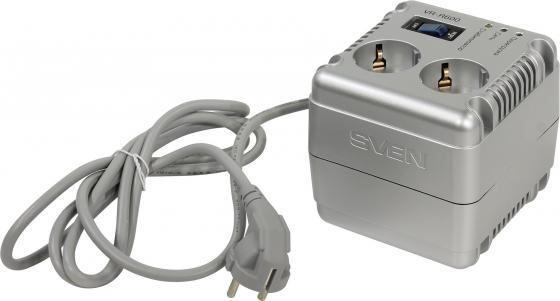 Стабилизатор напряжения Sven VR-R 600 2 розетки 1.7 м серебристый sven stream r