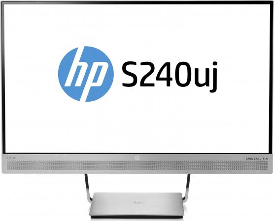 "цена на Монитор 23.8"" HP EliteDisplay S240uj серебристый IPS 2560x1440 300 cd/m^2 5 ms HDMI Аудио USB DisplayPort"