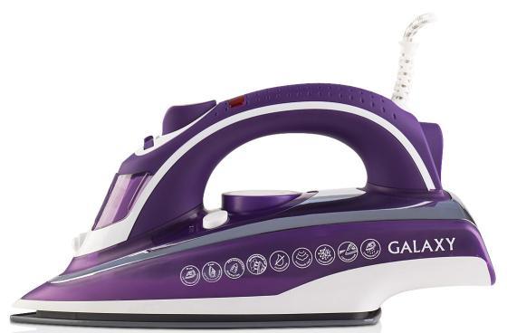 Утюг GALAXY GL6115 2400Вт фиолетовый белый утюг philips gc2998 80 чёрный 2400вт