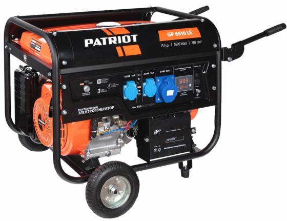 Генератор Patriot GP 6510LE бензиновый генератор бензиновый patriot gp 7510ale