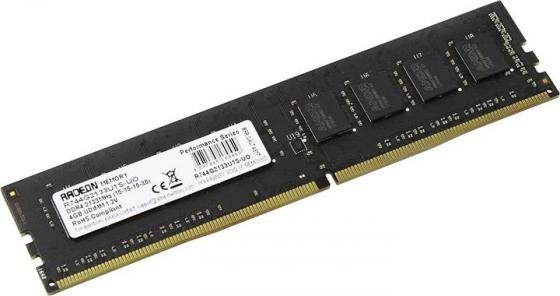 Оперативная память 4Gb (1x4Gb) PC4-17000 2133MHz DDR4 DIMM CL15 AMD R744G2133U1S-UO память оперативная ddr4 amd 2x8gb 2133mhz r7416g2133u2k