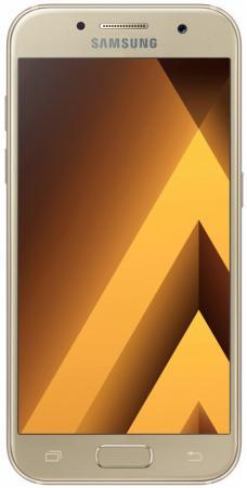 Смартфон Samsung Galaxy A7 Duos 2017 золотистый 5.7 32 Гб NFC LTE Wi-Fi GPS 3G SM-А720FZDDSER мобильный телефон samsung metro sm b350e duos black blue
