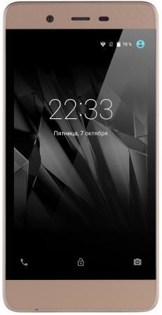 Смартфон Micromax Q4101 золотистый шампань 4.5 8 Гб LTE Wi-Fi GPS 3G смартфон asus zenfone live zb501kl золотистый 5 32 гб lte wi fi gps 3g 90ak0072 m00140