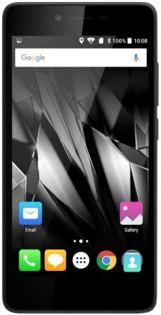 Смартфон Micromax Q409 черный 5 8 Гб LTE Wi-Fi GPS 3G смартфон micromax bolt q346 lite 3g 8gb blue