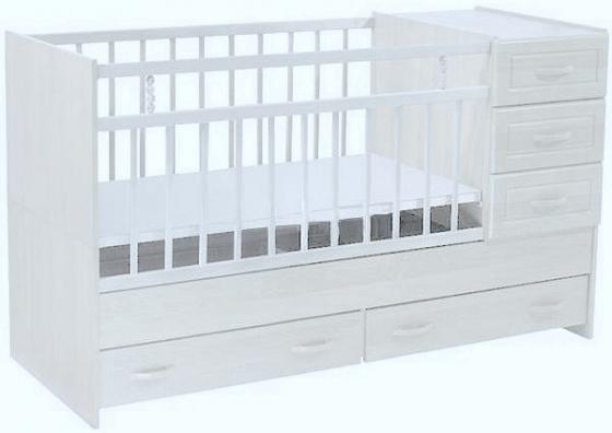 Кроватка-трансформер с маятником Ведрус Раиса (белый) кроватка трансформер ведрусс раиса с маятником темная