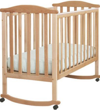 Кроватка-качалка Лель Лютик АБ 15.0 (натуральный бук)