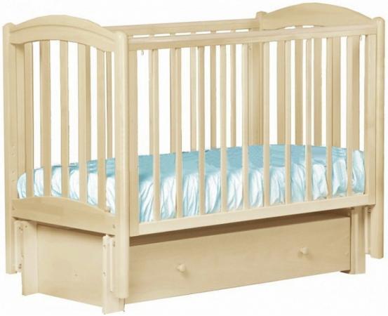 Кроватка с маятником Лель Василёк БИ09.2 (ваниль)