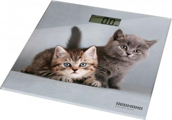 Весы напольные Redmond RS-735 серый рисунок кухонные весы redmond rs 736 полоски