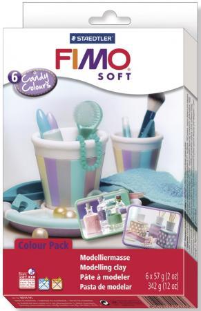 Глина полимерная FIMO soft комплект Конфетные цвета 802305 набор для создания украшений fimo soft красные мечты