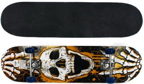 Скейтборд Shantou Gepai Skull 79х20 см, PVC колеса aomei 0042a diy long hair skull pvc car decor removable car wall sticker black size l