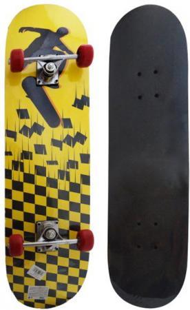 Скейтборд Shantou Gepai Tetris 79х20 см, PVC колеса скейтборд 2 колеса