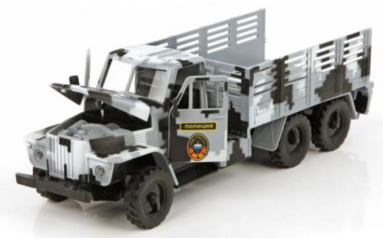 Грузовик Пламенный мотор Спецтранспорт - Полиция 33 см камуфляж свет, звук 870040 пламенный мотор машинка инерционная volvo пожарная охрана