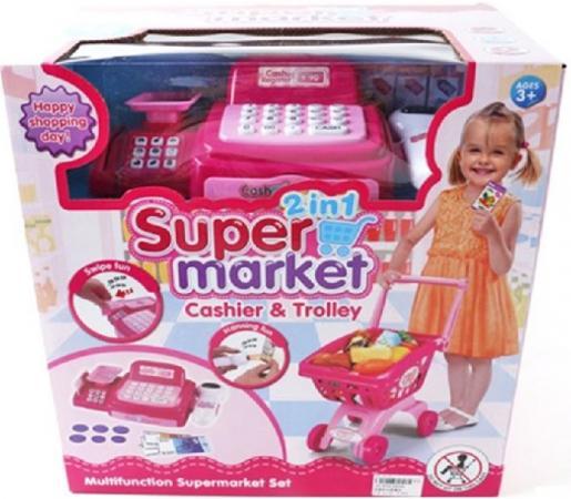 Игровой набор Shantou Gepai Супермаркет - Касса с тележкой  6809A игровой набор shantou gepai супермаркет касса тележка набор продуктов 6809