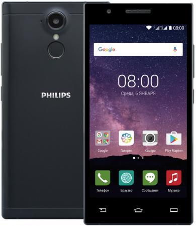 "цена Смартфон Philips Xenium X586 черный 5"" 16 Гб LTE Wi-Fi GPS 3G"