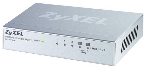 Коммутатор Zyxel ES-105A_V2 неуправляемый 5 портов 10/100Mbps коммутатор zyxel es 105a v2 неуправляемый 5х100base t
