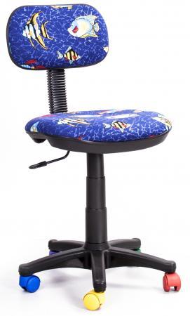 Кресло Recardo Junior D03 синий с рисунком рыбы gtsN / D03