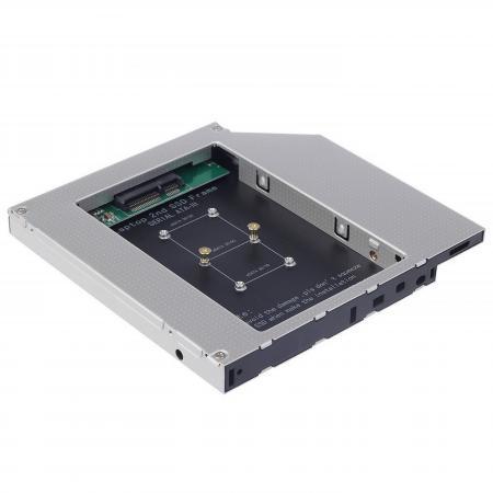 Шасси Orient UHD-2MSC12 для SSD mSATA для установки в SATA отсек оптического привода ноутбука 12.7 мм 30345 шасси orient uhd 2msc12 для ssd msata для установки в sata отсек оптического привода ноутбука 12 7 мм 30345