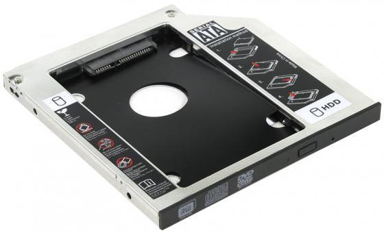 """Шасси Orient UHD-2SC9 для 2.5"""" SATA HDD для установки в SATA отсек оптического привода ноутбука 9.5 мм 30262 orient uhd 2m2c12 шасси для ssd m 2 ngff для установки в sata отсек оптического привода ноутбука 12 7 мм"""