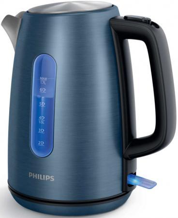 Чайник Philips HD9358/11 2200 Вт синий 1.7 л нержавеющая сталь чайник электрический philips hd9358 11