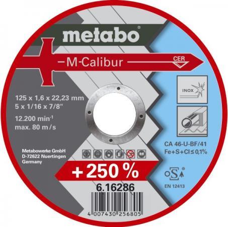Отрезной круг MetaboM-Calibur125x1.6 мм 616286000 круг отрезной metabo 180х1 6х22 616508000