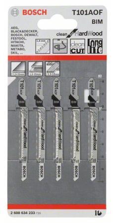 Лобзиковая пилка Bosch Т 101 AOF BIM 5 шт 2608634233 цена