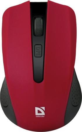 Мышь беспроводная Defender Accura MM-935 красный USB 52937 цена