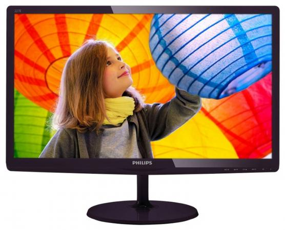 Монитор 21.5 Philips 227E6LDAD черный TN 1920x1080 250 cd/m^2 2 ms DVI HDMI VGA Аудио