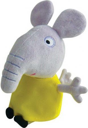 Мягкая игрушка слоненок Peppa Pig Слоник Эмили 20 см серый желтый плюш текстиль peppa pig транспорт 01565