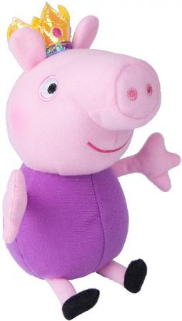 Мягкая игрушка свинка Peppa Pig Джордж принц 20 см розовый фиолетовый текстиль  31150 мягкая игрушка peppa pig джордж с машинкой свинка розовый текстиль 18 см 29620