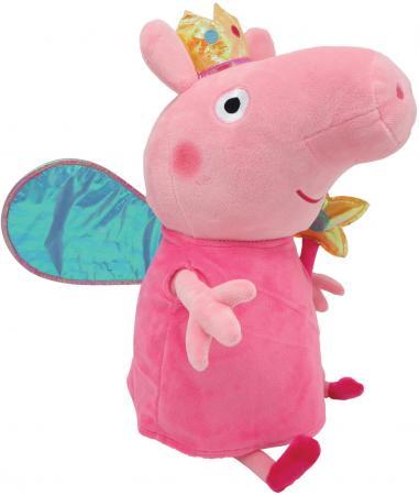 Мягкая игрушка свинка Peppa Pig Пеппа Фея с палочкой 20 см розовый плюш полиэстер 31152 мягкая игрушка peppa pig джордж с машинкой свинка розовый текстиль 18 см 29620